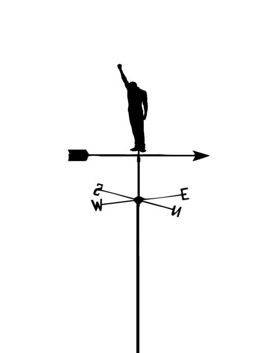 Black Power Weather Vane