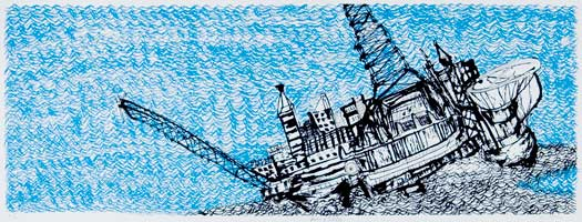 Sinking Oil Rig