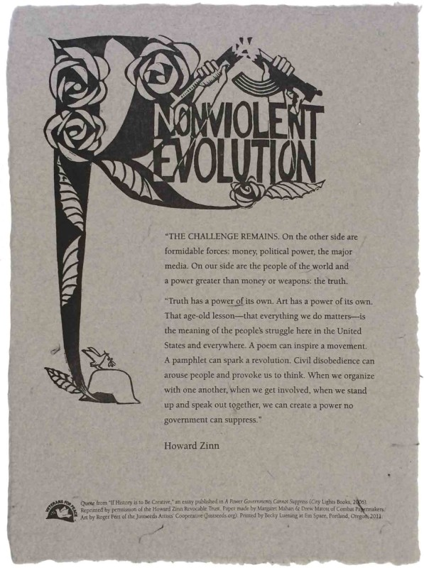 Veterans For Peace Broadside #3: Nonviolent Revolution