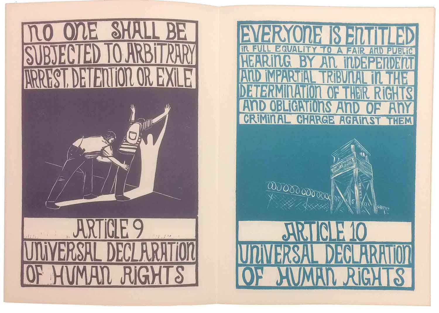 universal declaration of human rights book this project is an artistic interpretation of the universal declaration of human rights each article is presented along images depicting areas where