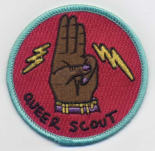 Queer Scout Badge: 2020 Colorway