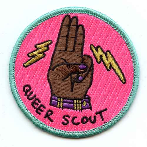Queer Scout Badge: 2019 Colorway
