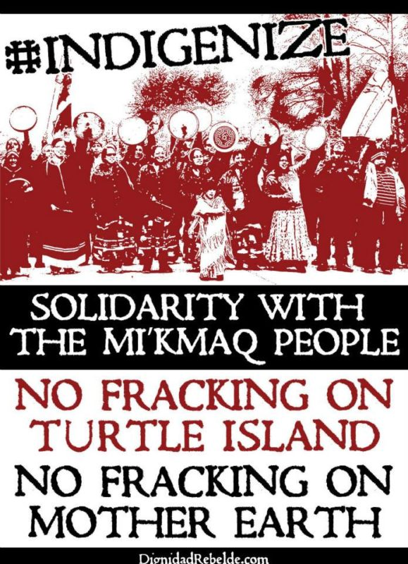 Solidarity with the Mi'kmaq People
