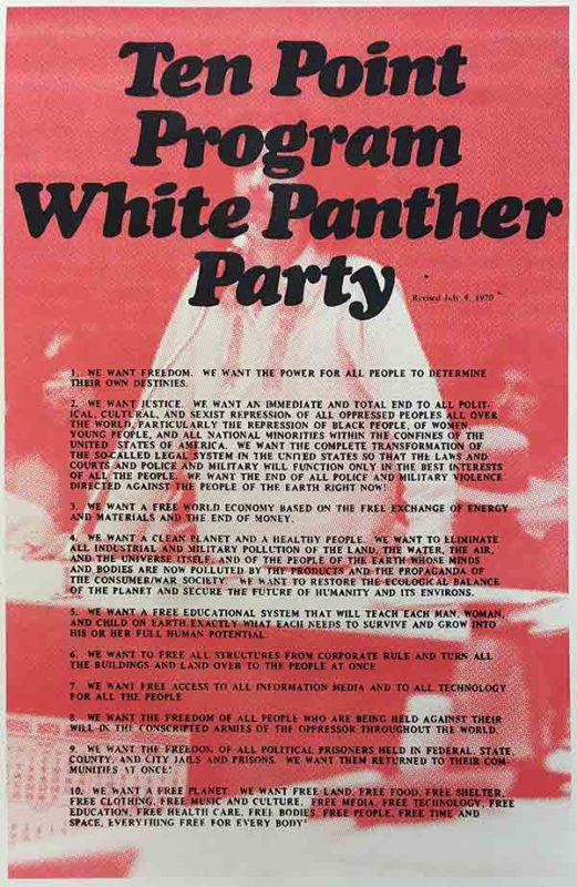 Ten Point Program: White Panther Party