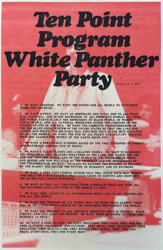 Ten Point Program: White Panther Party