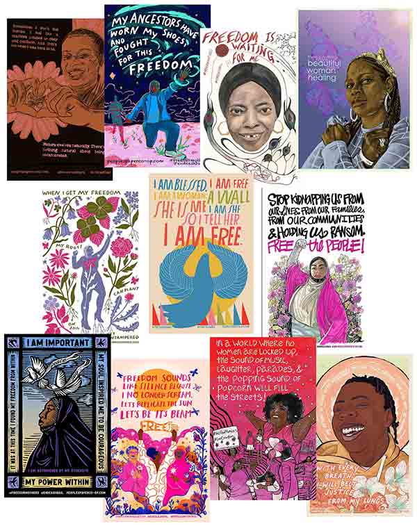 Free Our Mamas! Sisters! Queens! 2021 Full Poster Set