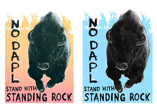Stand With Standing Rock – mini print
