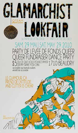 Glamarchist Lookfair Party Poster