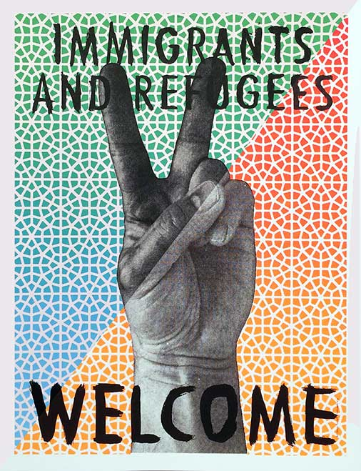 Immigrants and Refugees Welcome