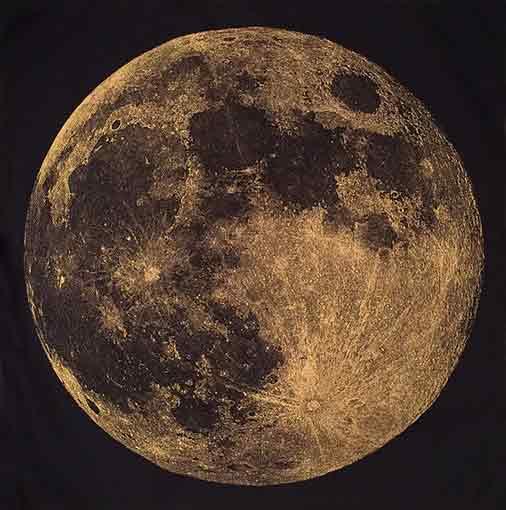 Gold Moon Hanky