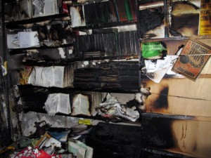 Freedom Bookstore Firebombed