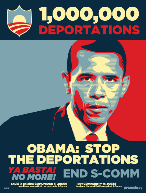 1 Million Deportations ain't Enough for Pres. Obama! Sign the Petition & Spread Art