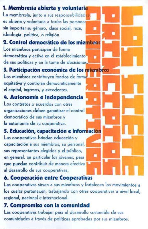 Los Siete Principios Cooperativos