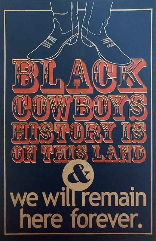 Black Cowboys History Is On This Land – poster