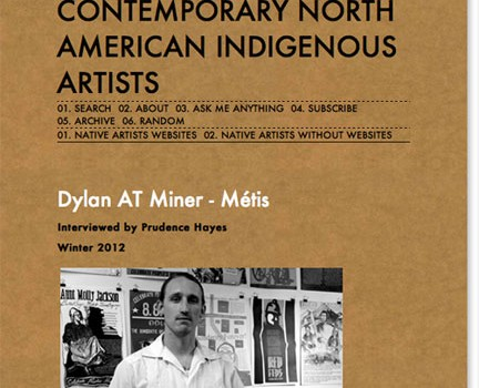 Interview at Indigenous Arts' Blog