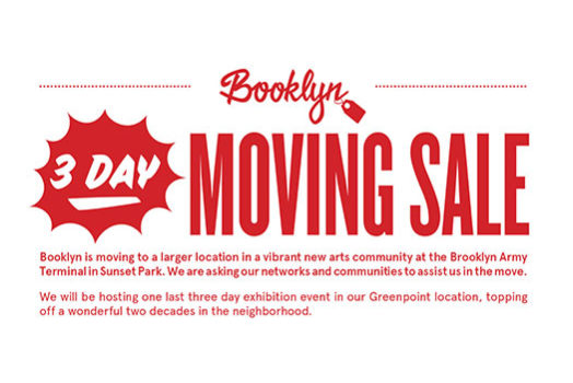 Booklyn Moving Sale