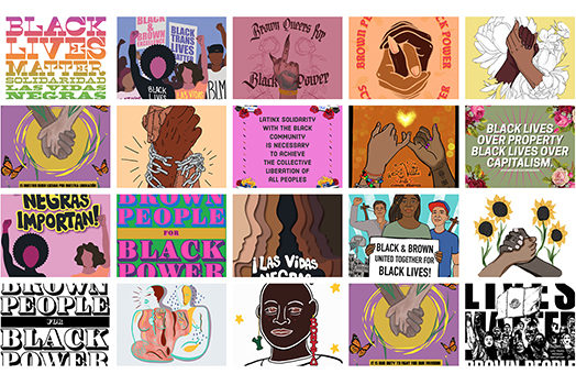 Brown Artists for Black Power Poster Series