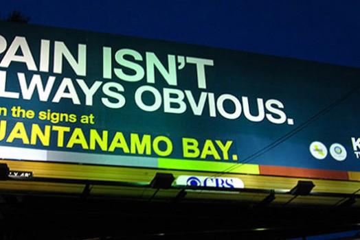 Corrected Billboard Defends Transparency at Guantanamo Bay