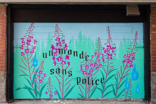 Police Abolition mural @ Montréal