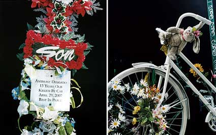 Ghost Bikes in New York Magazine