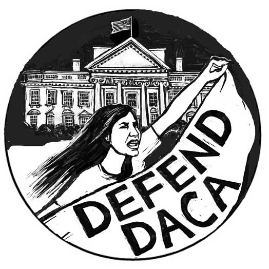 Defend DACA – White House March – b&w version