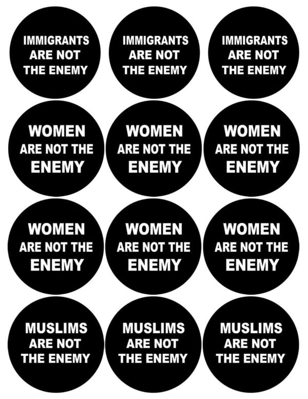Not The Enemy Buttons