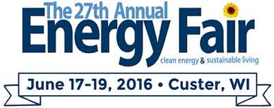 27th Annual Energy Fair in Custer, WI
