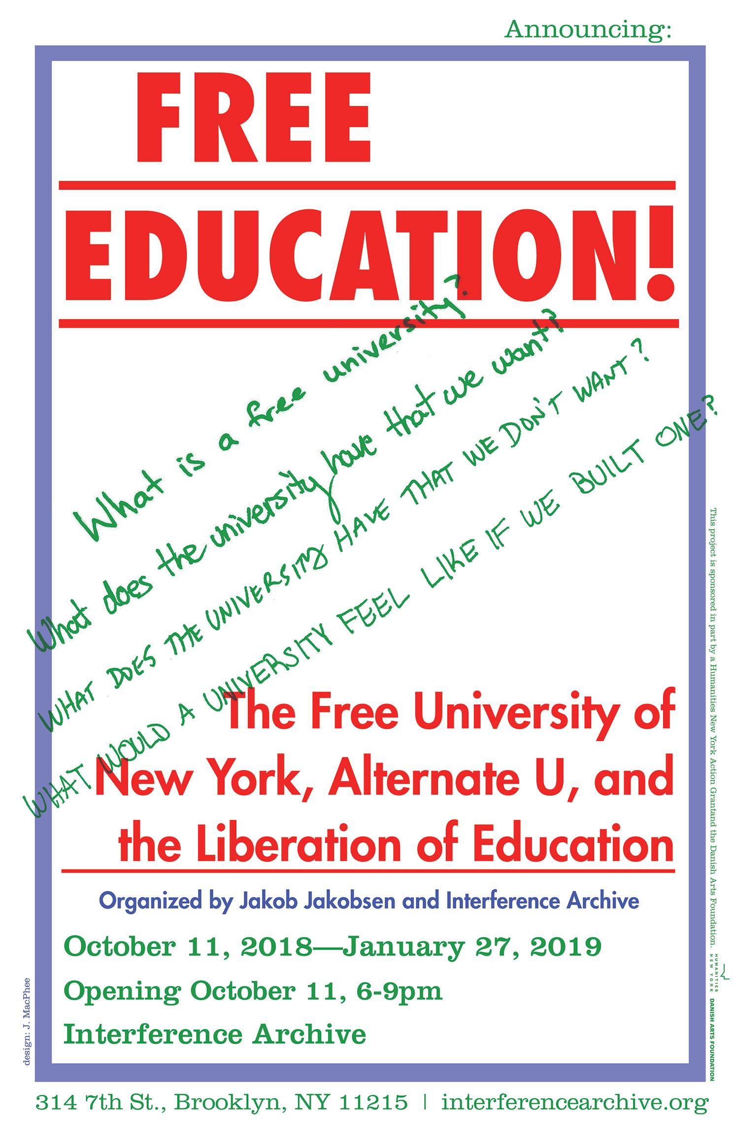 justseeds free education the free university of new york