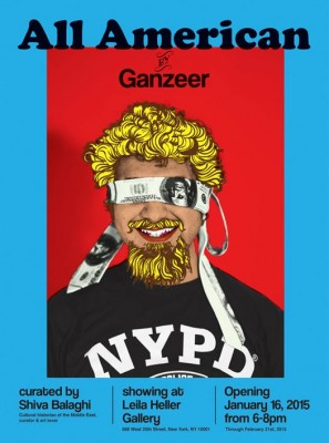 All American, Egyptian artist Ganzeer solo exhibition (Opening Night!)