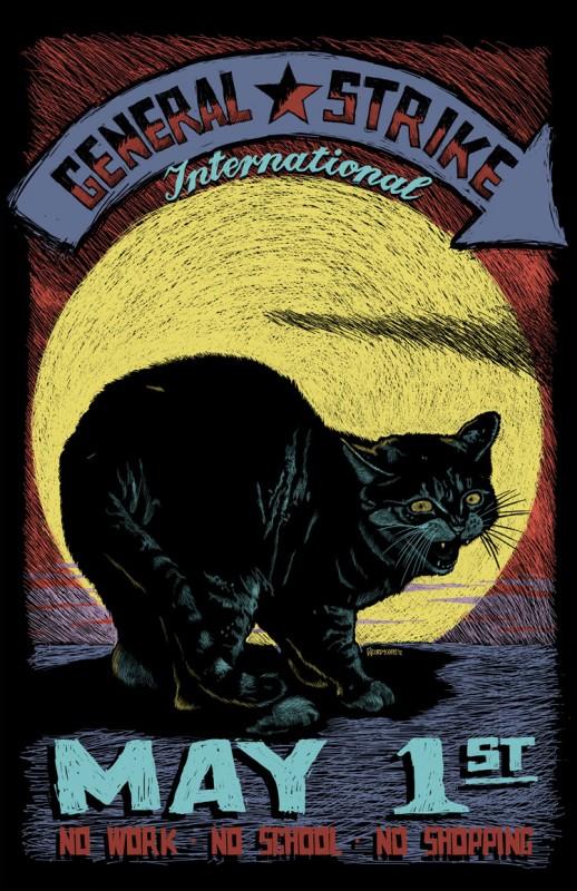 International General Strike Poster! Cartel para la Huelga General Internacional!