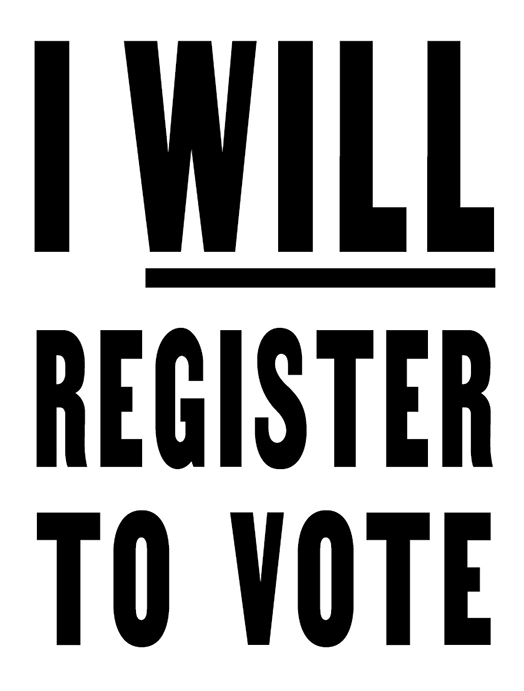 I Will Register to Vote
