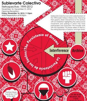 La Persistencia de los Sueños install peek from Interference Archive
