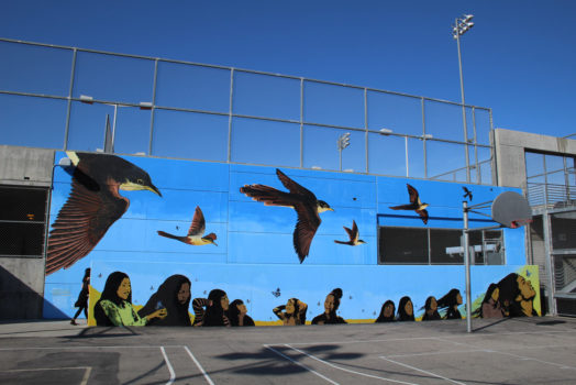 Endangered Species Mural: Yellow-Billed Cuckoo