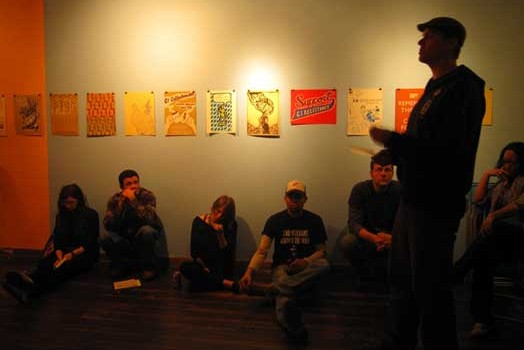 "photos from the Justseeds-IVAW ""War is Trauma"" portfolio shows in Chicago"