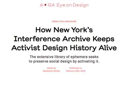 Interference Archive featured on AIGA Eye on Design blog
