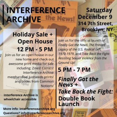 Justseeds Holiday Sale & Open House for Interference Archive