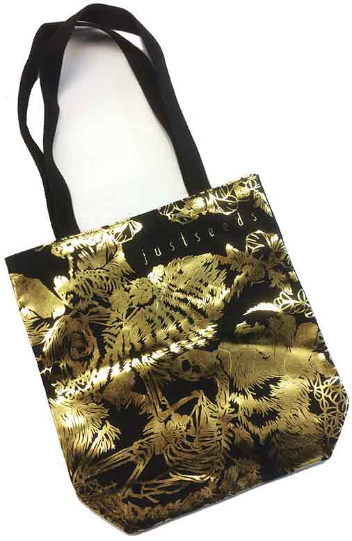 Justseeds 10th Anniversary Gold Tote Bag