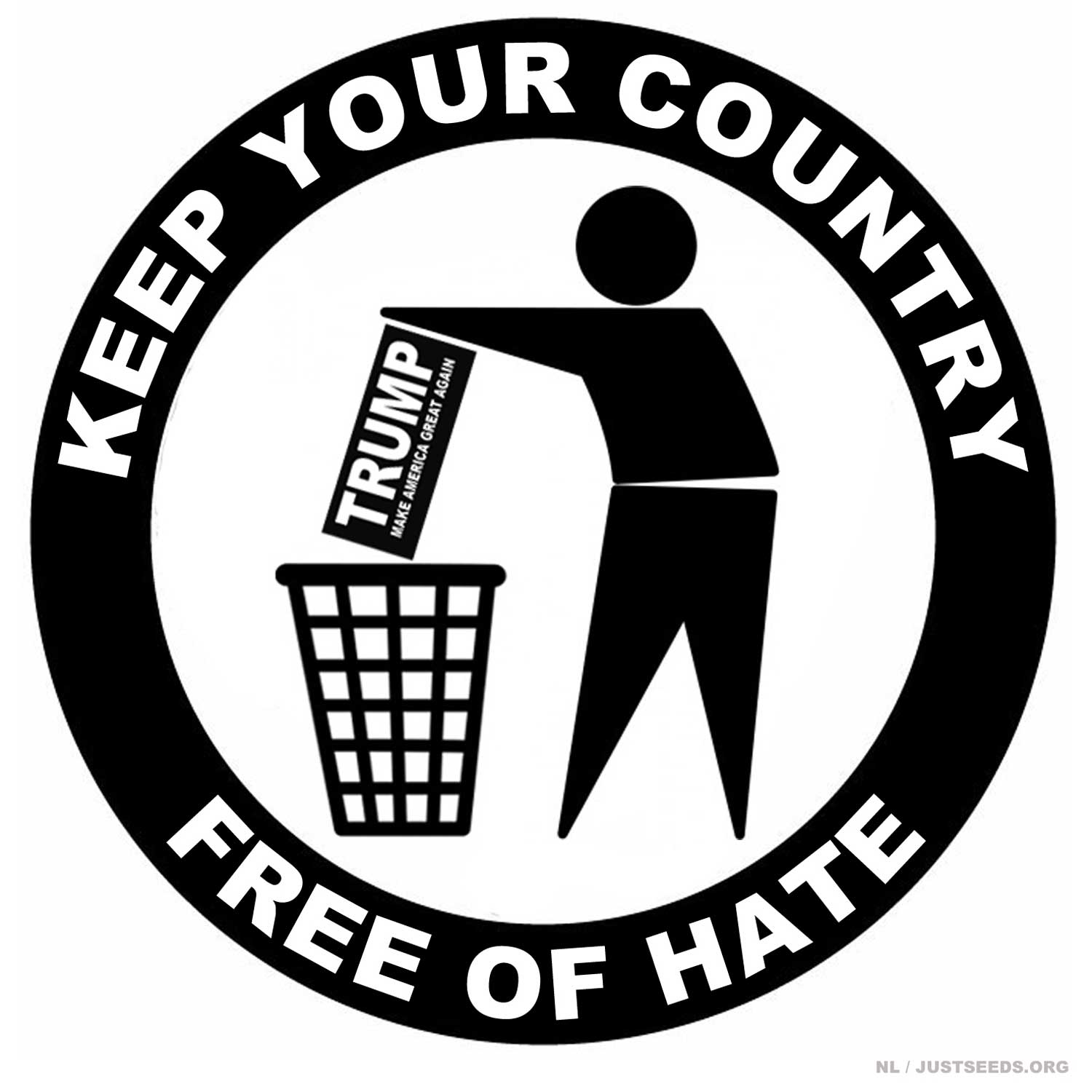 Justseeds | Keep Your Country Free of Hate