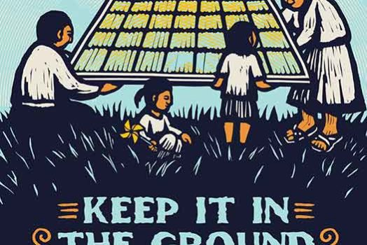 Keep It In The Ground poster designs