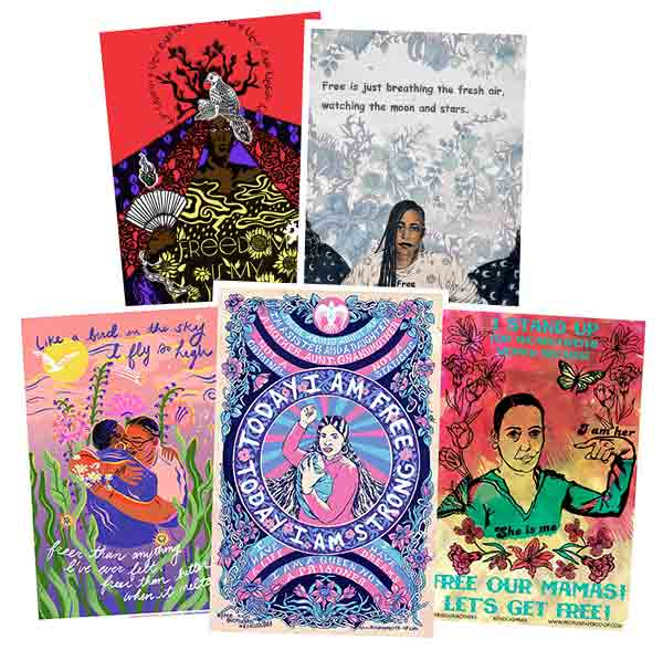 Free Our Mamas! Sisters! Queens! 2020 Full Poster Set