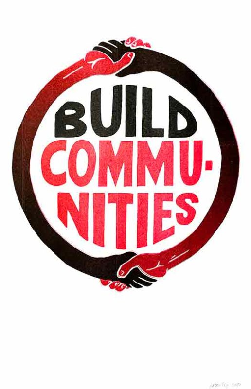 Build Communities (Black/Red)