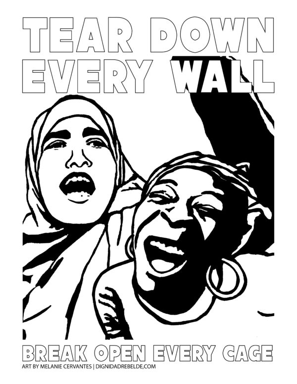 Tear Down Every Wall coloring page