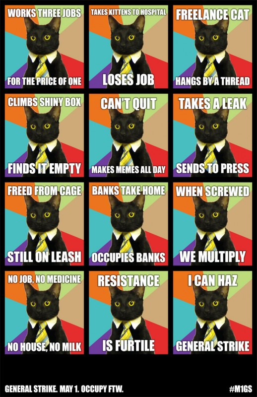 May Day Cat Meme