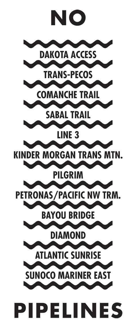 No Pipelines graphic by Helen Peña