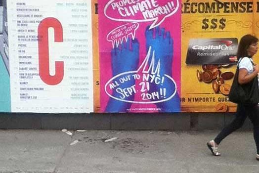 People's Climate March art: 30-city wheatpaste action: part 2