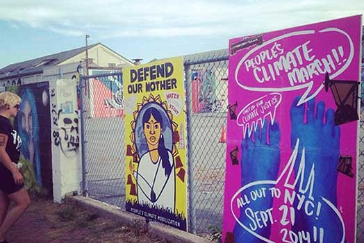 People's Climate March art: 30-city wheatpaste action