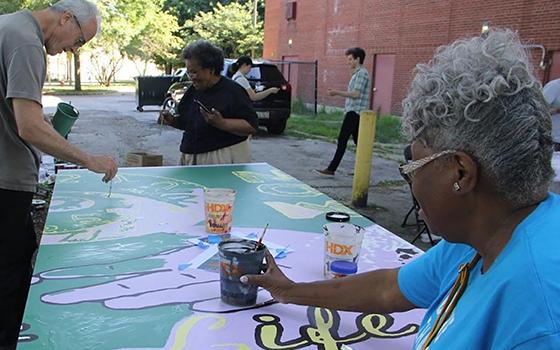PNAP Community Mural Painting at DuSable Museum