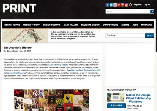 Interference Archive on PRINT Magazine website