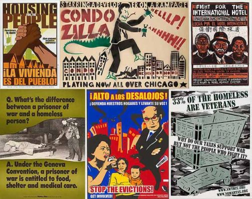 Reclaim! Remain! Rebuild!   Posters on Affordable Housing, Gentrification & Resistance
