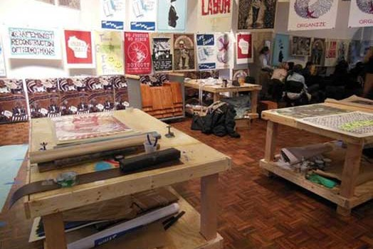 Propositions Press review of Justseeds SGCI install